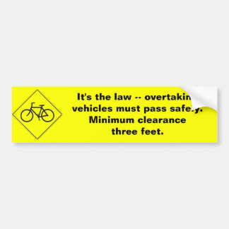 Three Feet Bumper Sticker