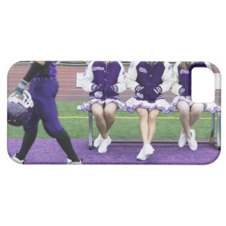 Three female cheerleaders (16-18) watching case for the iPhone 5