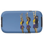 Three female cheerleaders standing in row galaxy s3 cases