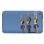 Three female cheerleaders standing in row iPod Case-Mate case