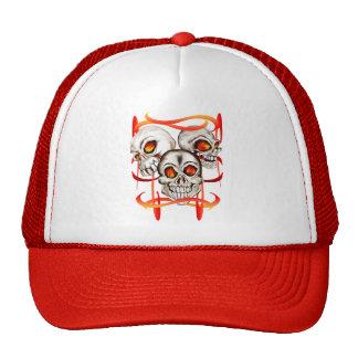 Three Fiery Skulls Hat