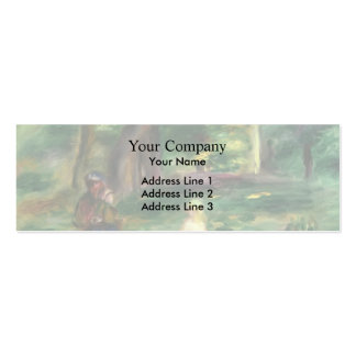 Three Figures in a Landscape by Pierre Renoir Pack Of Skinny Business Cards