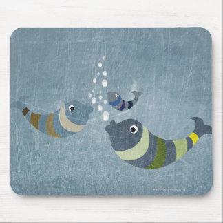 Three Fish Mouse Mat