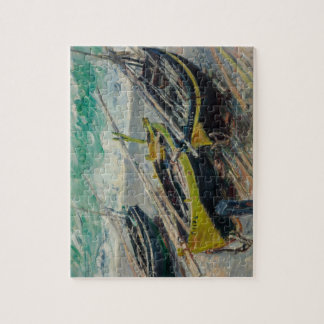 Three Fishing Boats by Claude Monet Puzzles