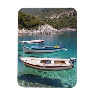 Three Fishing Boats Rectangular Photo Magnet