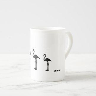 Three Flamingo Birds and dots mug / cup