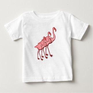 Three Flamingos Baby T-Shirt