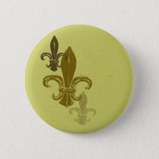 Three Fleur De Lis 6 Cm Round Badge