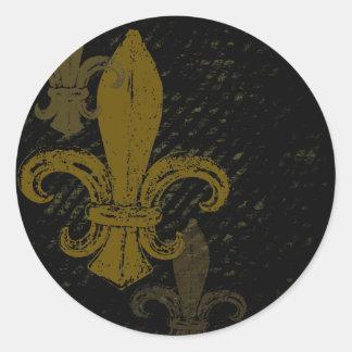 Three Fleur De Lis Classic Round Sticker