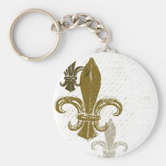 Three Fleur De Lis Key Ring