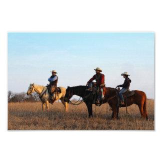 Three Flint Hills Cowboys Photo Print