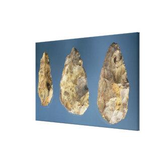 Three flint tools canvas print