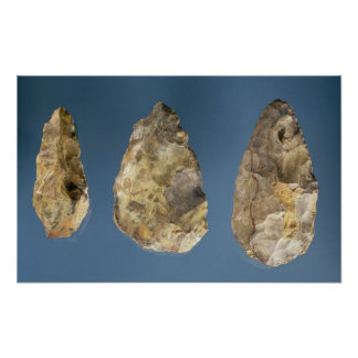 Three flint tools poster