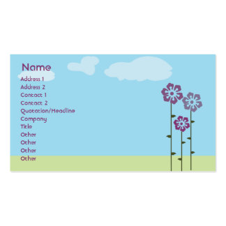Three Flowers - Business Pack Of Standard Business Cards