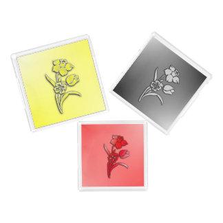 Three Flowers Daffodil Acrylic Tray