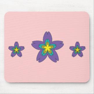 Three Flowers design customizable mousepad