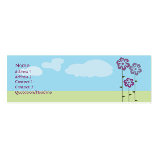 Three Flowers - Skinny Pack Of Skinny Business Cards