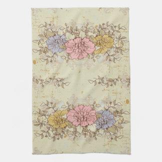 Three Flowers, Vintage Country Floral Towels