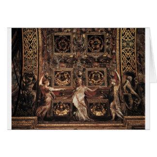 Three Foolish Virgins Flanked Adam and Eve Greeting Card