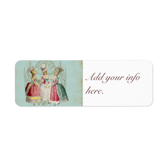 Three French Girls Party Stickers Tags