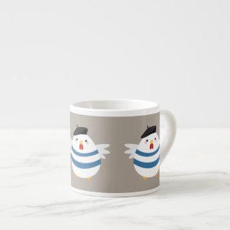Three French Hens Illustration Espresso Mug
