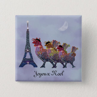 Three French Hens Pins