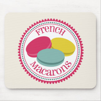 Three French Macarons Mouse Pad