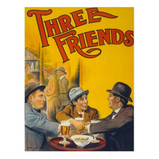 Three Friends Movie Poster Postcards