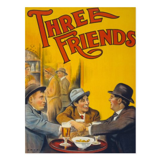 Three Friends Movie Poster Postcard