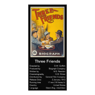 Three Friends Full Color Rack Card