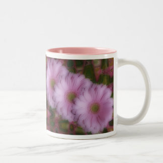 Three Gerberas Two-Tone Coffee Mug