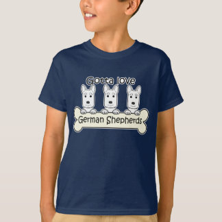 Three German Shepherds T-Shirt