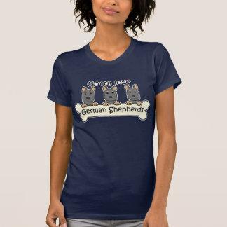 Three German Shepherds T Shirts