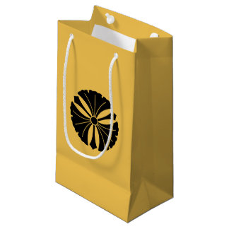 Three ginkgo leaves with swords small gift bag