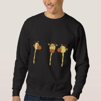 Three Giraffes Cartoon. Sweatshirt