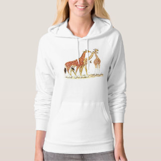 Three Giraffes Illustration Hoodie