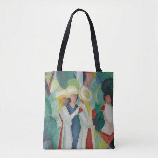 """""""Three Girls"""" Art art bags Tote Bag"""