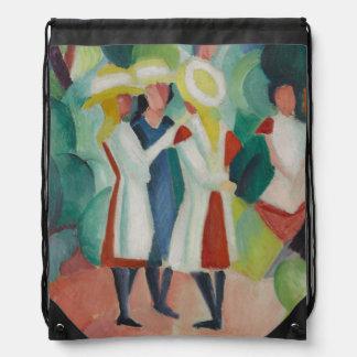 """Three Girls"" Art backpack"