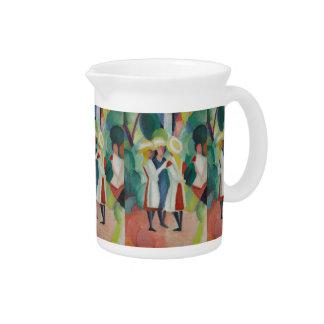 """Three Girls"" Art pitcher"