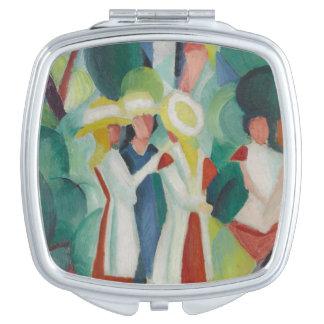 """Three Girls"" Art pocket mirror"