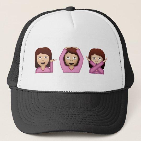 Three Girls Emoji Cap