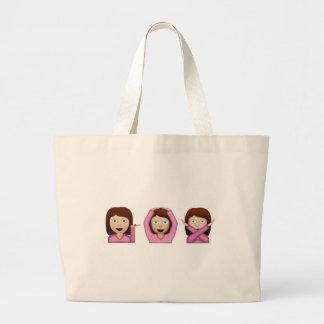 Three Girls Emoji Jumbo Tote Bag
