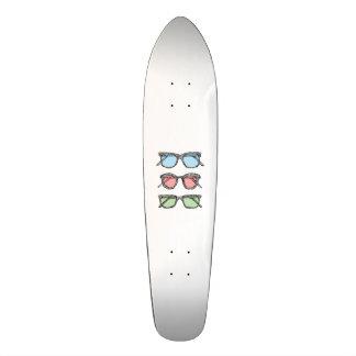 Three Glasses Sketch Custom Skate Board