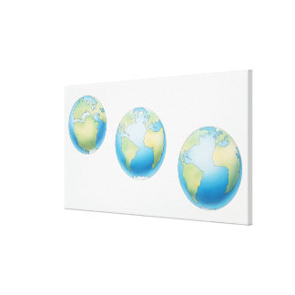 Three Globes Canvas Print