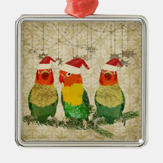 Three Golden Birds Ornament