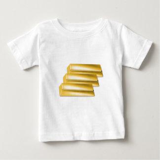 three-golden-gold bars.get rich baby T-Shirt