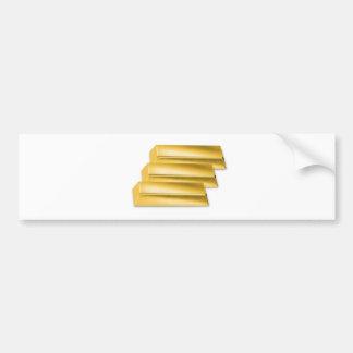 three-golden-gold bars.jpg bumper sticker