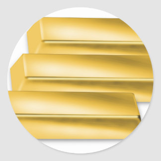 three-golden-gold bars.jpg round sticker