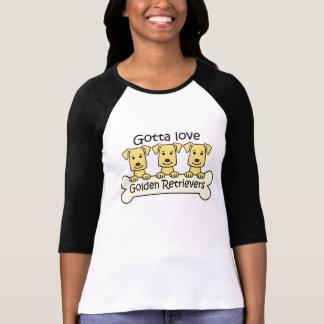 Three Golden Retrievers T Shirts