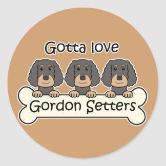 Three Gordon Setters Classic Round Sticker